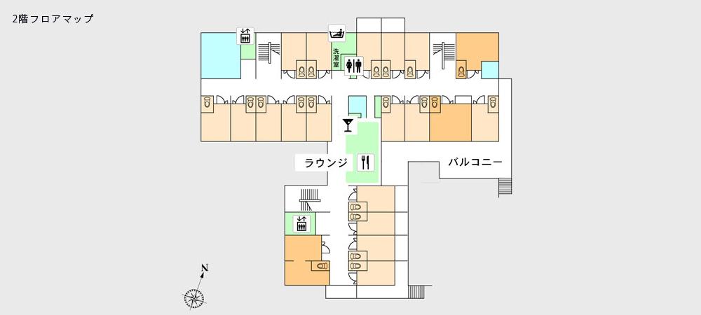 2階フロアマップ
